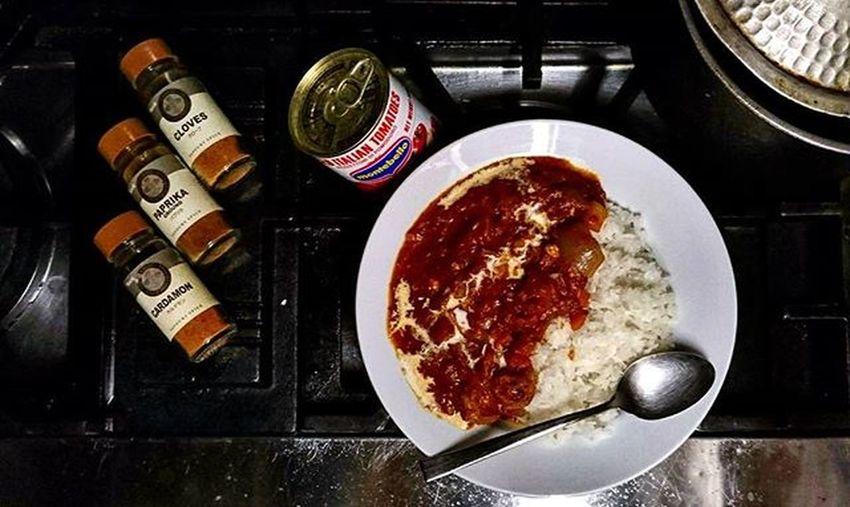 エビのトマトソース激辛カレー Blacktiger Tomato Curry Japan Japanese  Food Foodgasm Foodie Foodporn Foodphotography Fhoto Fhotography Cooking Homemade Tokyo Shibuya Yammy  Good Nice Pic Kitchen L4l すけさん特製。これクソ美味い。マジで美味い😍😍😍