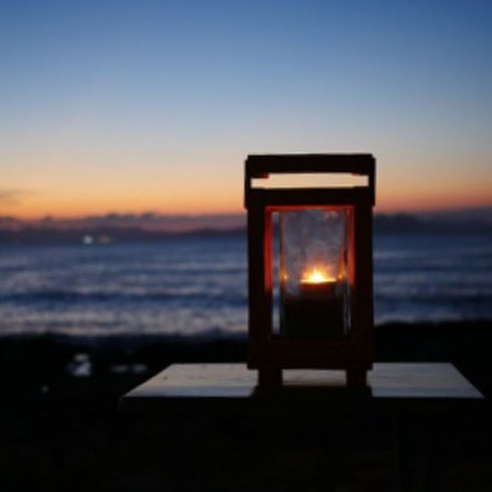 Beach Night Lights Restaurant SPAIN