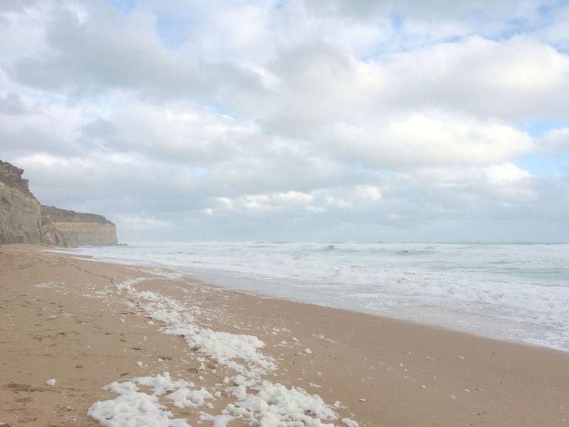 12 Apostles Beach Beach Sunset Blue Sky Nature Pale Quiet S Victoria Australia White Wave
