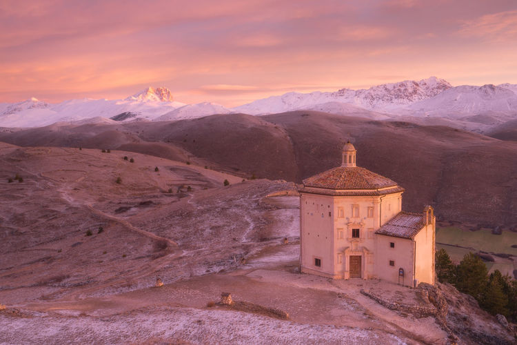 Santa Maria della Pietà little church Abruzzo Architecture Church EyeEm EyeEm Best Shots EyeEm Nature Lover EyeEm Selects EyeEm Gallery EyeEmBestPics EyeEmNewHere Landscape_Collection Nikon Tranquility Travel Traveling Winter Eye4photography  History Italy Landscape Landscape_photography Snow Sunrise Tranquil Scene Travel Destinations The Great Outdoors - 2018 EyeEm Awards