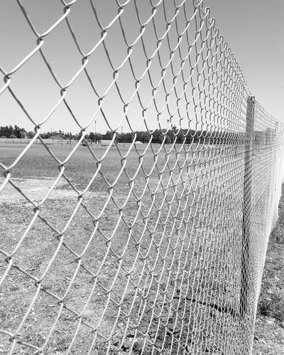 Chainlink Fence Outdoors No People Fence Mypointofview Blackandwhite EyeEm Best Shots EyeEm Best Shots - Black + White Black&White Friday