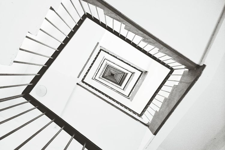 Showcase: February Spiral Staircase Blackandwhite Lookingup Happy CNY
