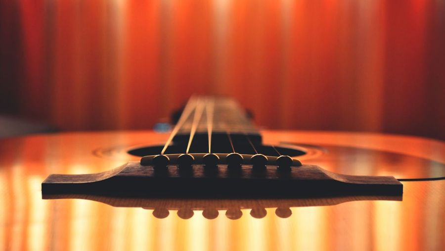 Cropped Shot Of Guitar