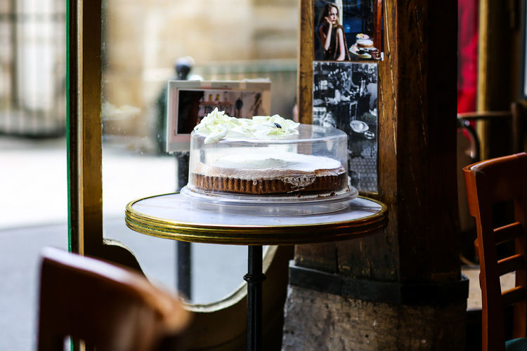 Paris | high res images available Cafe Cafe Interior Cafe Seating Cake Cake Display City Street Close-up Europe Focus On Foreground France No People Paris ParisianLifestyle Selective Focus Still Life Street Photography Street Scenes Streetphotography Travel