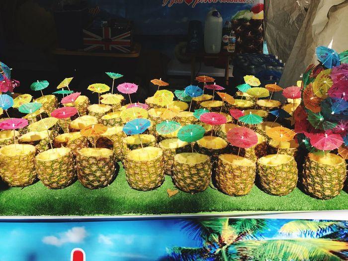 Nottinghill Carnival Drinks! Piña Colada Colours Sunnyday☀️