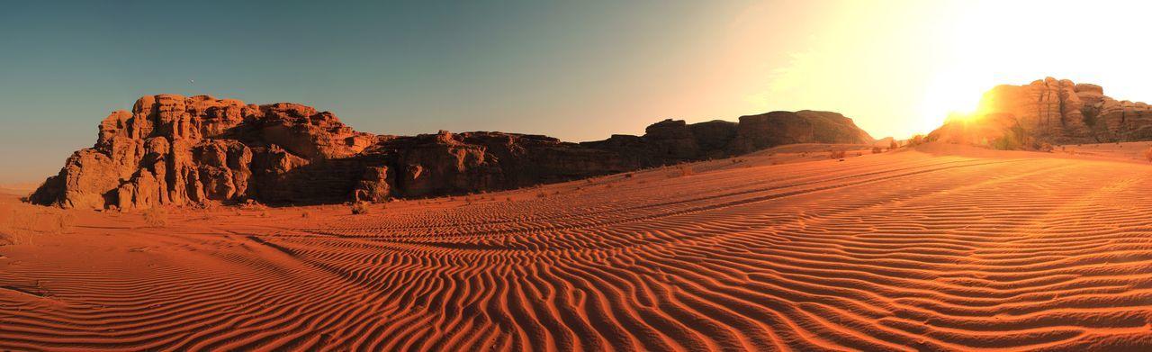 Desert sand wadi rum