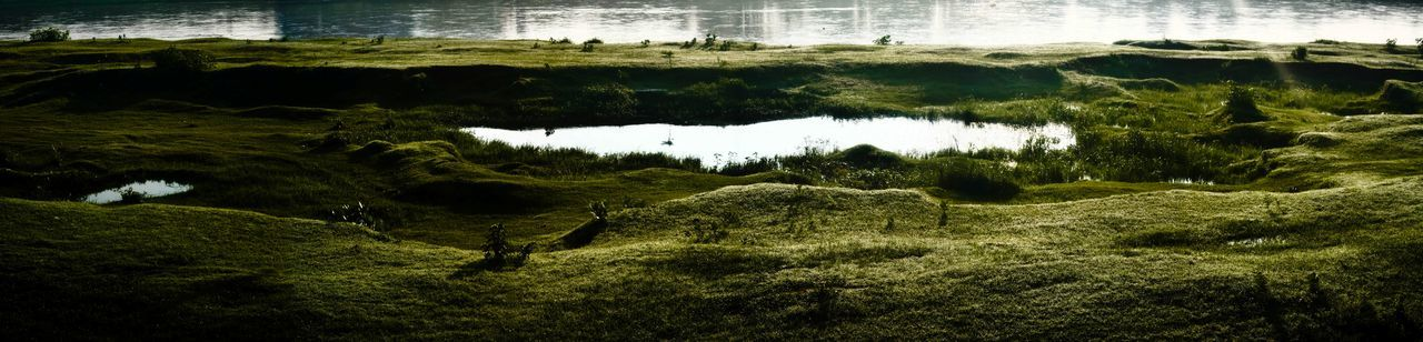 bliss Fine Art Panorama Panoramic Fine Art Background Beauty In Nature Day Daylight Freshness Grass Lanscape Nature No People Outdoors Scenics Water Tranquil Scene Tranquility