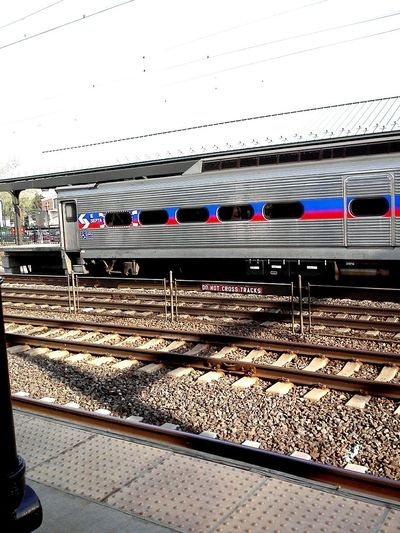 I take the train when I go to New York. Traveling by train is a experience of culture in it's own right. Train Tracks Railroad Train Trainstation Outdoors Public Transportation Commuting Subway Gravel Septa  Traintrack Travel