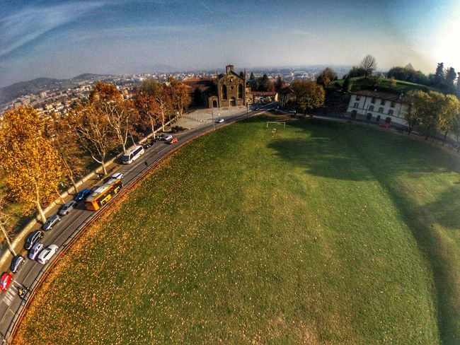 Architecture Built Structure Outdoors Sky Day Building Exterior No People Nature City High Angle View Sun Nature Landscape Space Cityscape Mountain Beautiful View Clear Sky InTheSky Beauty In Nature Dronephotography Horizon Over Water Architecture Ilovebergamo Blue
