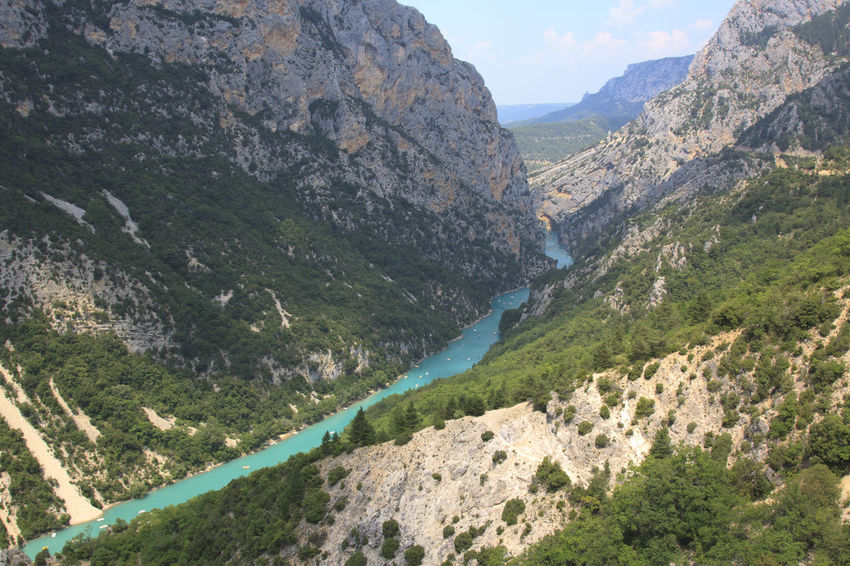 Gorge du Verdon, Provence, France Beauty In Nature Europe Flowers France Idyllic Landscape Lavander Mountain Mountain Range Nature Non-urban Scene Physical Geography Provence Remote River Rocky Mountains Scenics Senanque Sun Tranquil Scene Tranquility Valensole Valley Verdon Water