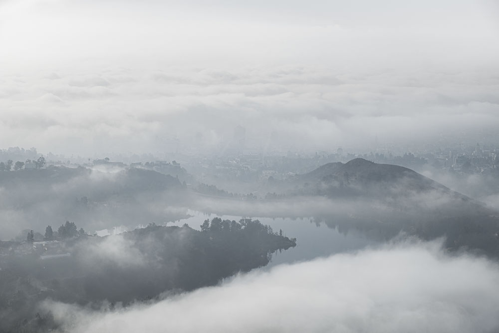 Clearing • Lake Hollywood. Beauty In Nature Cold Temperature Day Fog Foggy Hazy  Idyllic Landscape Mist Mountain Nature No People Outdoors Scenics Sky Tranquil Scene Tranquility Weather Winter