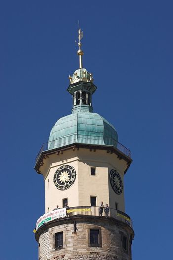 Kaiserwetter Blue Sky Time Clock Tower Astronomy Clock Face Architecture Schloss Neideck Arnstadt