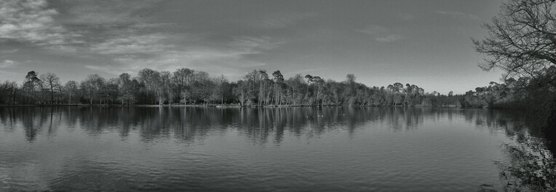 Blackandwhite Landscape Panorama Lake Monochrome DroidEdit