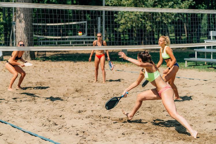 Beach tennis match