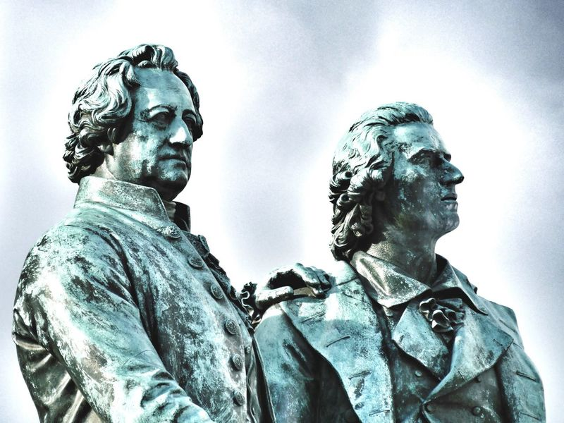 Goethe and Schiller in Weimar Germany Deutschland Statue Art ArtWork Statues Literature Monochrome Monochromatic Two People Showcase March Global Photographer Works Exhibition Global Photographers Alliance Two Is Better Than One