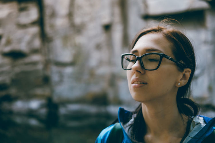Happiness Day Enjoying Enjoying Life Eyeglasses  Focus On Foreground Headshot One Person Outdoor Photography Outdoors Real People Smiling Face Young Adult Young Women
