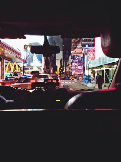 Times Square NYC Taxi Goodmorning :)