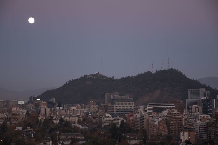 Landscape and Moonrise in Santiago, Chile City Life City Street Cityscape Moon Nature Citylights Moon Light Moonlight Moonrise Mountain Range