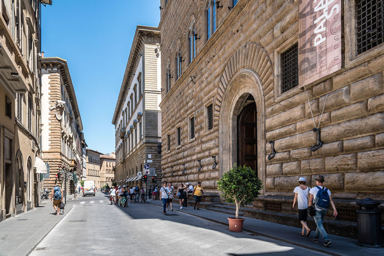 Europe Trip Firenze Palazzo Travel Adult Adults Only Architecture Building Exterior Built Structure City Day Europe Group Of People Men Outdoors People Real People Road Sky Street Strozzi Travel Destinations Walking Women