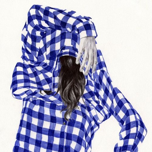Detail Pen Arte Sensual Body Shirt Cuadros Dibujo Ilustracion Art Ballpoint Beauty Bic Hands Boli Drawing Hear Blue Biro Girl Chamosan Illustration Murex Black Camisa