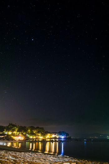 Beach Calm Long Exposure Night Night Lights Night Photography Ocean Ocean View Sea Star Photography Starporn Stars Thailand
