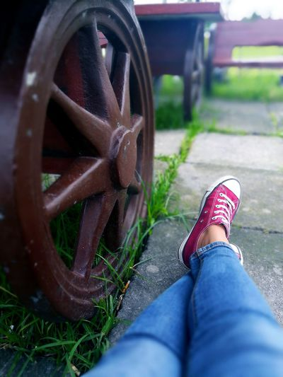 👣 Low Section One Person Human Leg Old-fashioned Wheel Close-up Young Adult People EyeEm Phonephotograpy Photography Themes Huaweigr52017 Lifestyles Eyeem Philippines EyeEm Gallery EyeEm Selects Feet Personal Perspective Philippines
