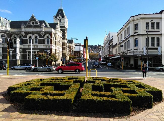 Dunedin Architecture Travel Destinations Building Exterior Car Outdoors Day City Sky People Politics And Government Let's Go. Together.