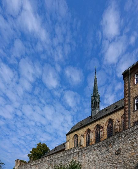 Dominikaner Kloster Blick Architecture Belief Building Building Exterior Built Structure Cloud - Sky Day History Low Angle View Nature No People Outdoors Place Of Worship Religion Sky Spire  Spirituality The Past Tower Warburg Altstadt