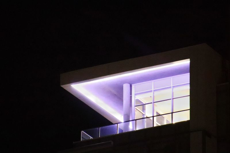 Urban Geometry Nightphotography Highrisebuilding Lifestyle Photography Balcony Illuminated Night Low Angle View Architecture Built Structure No People Window