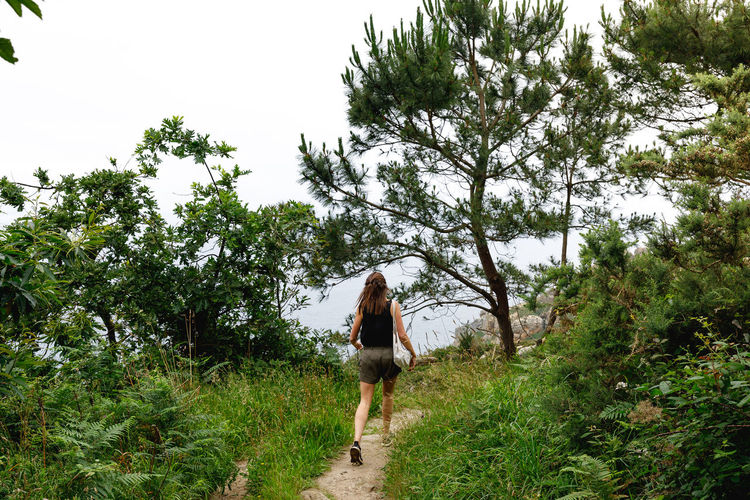 San Sebastián Hiking SPAIN Travel Adventure Casual Clothing Day Full Length Green Color Hairstyle Land Leisure Activity Lifestyles Nature One Person Outdoors Plant Real People Rear View Sky Travel Destinations Tree Walking Women Young Adult Young Women The Great Outdoors - 2018 EyeEm Awards The Traveler - 2018 EyeEm Awards