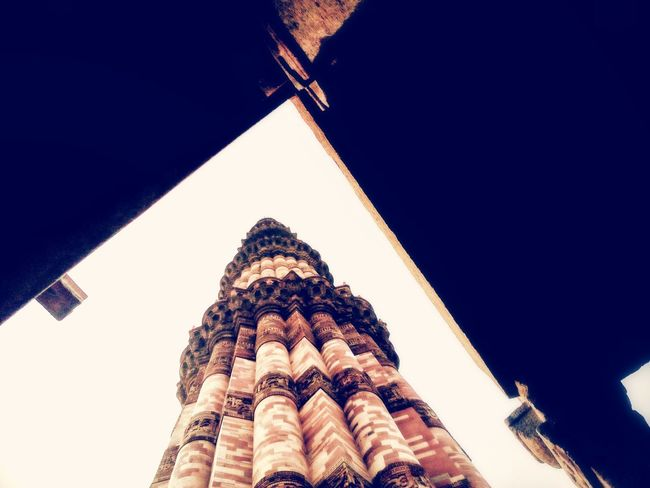 Built yourself strong and high like a Minaret..UNESCO World Heritage Site Travel Destinations Travelling India EyeEm Selects Qutub Minar Built Structure Religion Eye Em Vision Heritage Site Naturephotography Incridible India History Eyeem Market Day EyeEmbestshots Mobilephotography Eyem Gallery