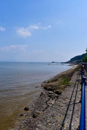 Taking Photos Coastline Pebbles Sunny Day Sea Handrail  Nikon D5500