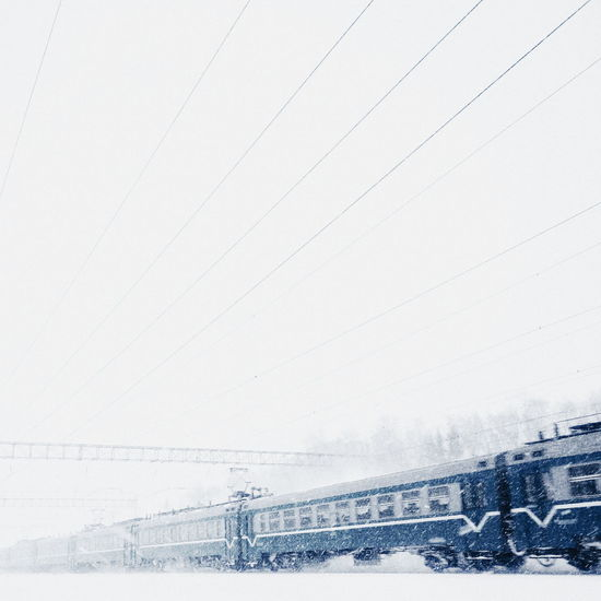 Beauty In Nature Cable Clear Sky Cold Temperature Copy Space Day Nature No People Non-urban Scene Power Line  Scenics Season  Sky Snow Train Tranquil Scene Tranquility Weather White Color Winter EyeEm Gallery EyeEm Best Shots EyeEm My Year My View