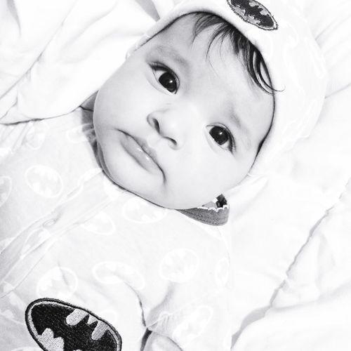Batman Batgirl Babygirl Black & White
