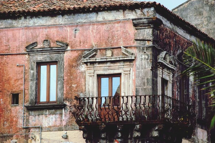 Architecture Town Italian Italy Sicilia Sicily Built Structure Building Exterior Architecture Building Window Day Low Angle View No People Old Wall Abandoned Residential District Weathered Wall - Building Feature House Outdoors