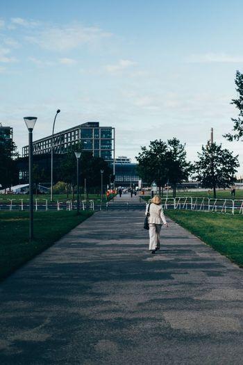 Full length of man in park against sky