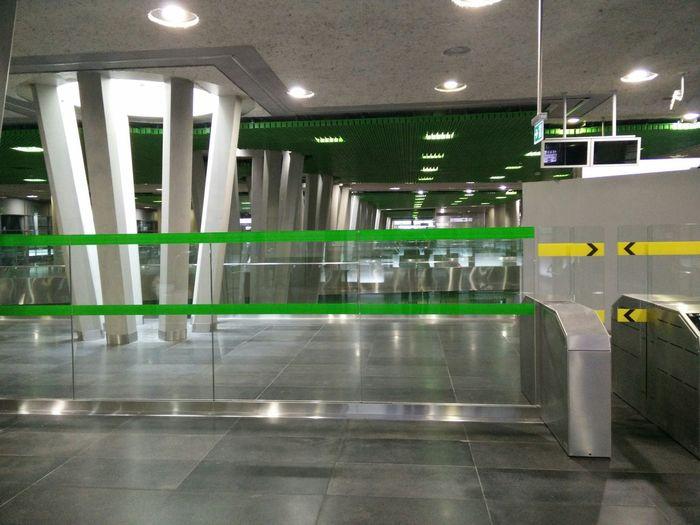 Public Transportation Subway Warsaw Entrance