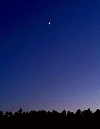 Crescent Moon Moon Light Peaceful Night Country Living