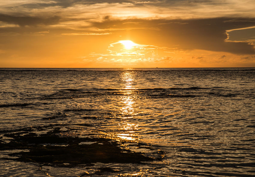 Vacations Beach Beauty In Nature Freedom Golden Holiday Horizon Horizon Over Water Idyllic Nature No People Outdoors Reflection Romantic Scenics Sea Silhouette Sky Summer Sun Sunlight Sunset Tranquil Scene Tranquility Water