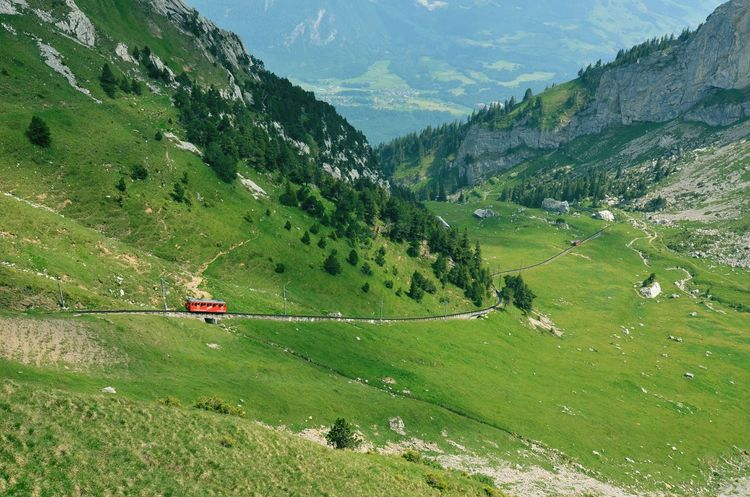 The Great Outdoors - 2015 EyeEm Awards Switzerland Landscape Mountain View Mountains Edge Of The World Swiss Mountains Swiss Red Train The Traveler - 2015 EyeEm Awards