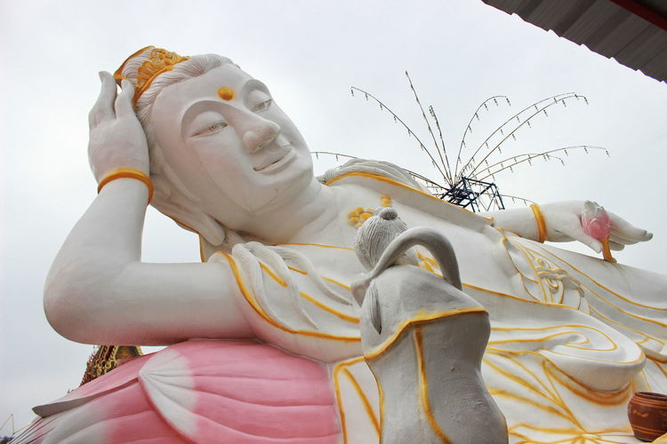 White statue of