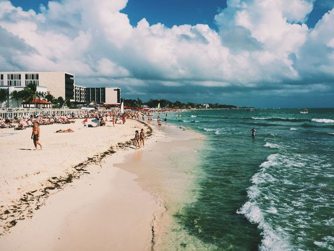 Just got back from Vacation - it was great! Playadelcarmen Beach Sky Ocean IPhoneography Eye4photography  EyeEm Best Shots