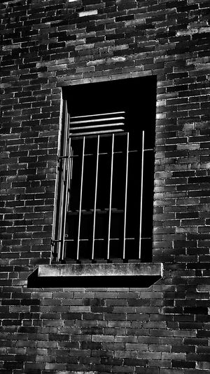 House arrest Prison Jail Bird Confinement Brick Bars Arrest Sentence Term Guilty Convict Sad Cold Grey Shade Away Isolation Isolated Solitary Time Premium Collection Solitude Solitaire Alone Black & White Collection