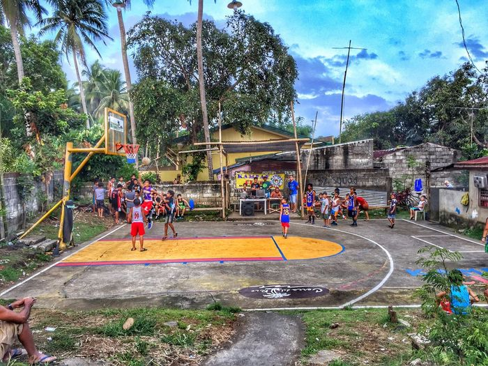 Built Structure Outdoors Basketball Real People Tree Day EyeEmNewHere