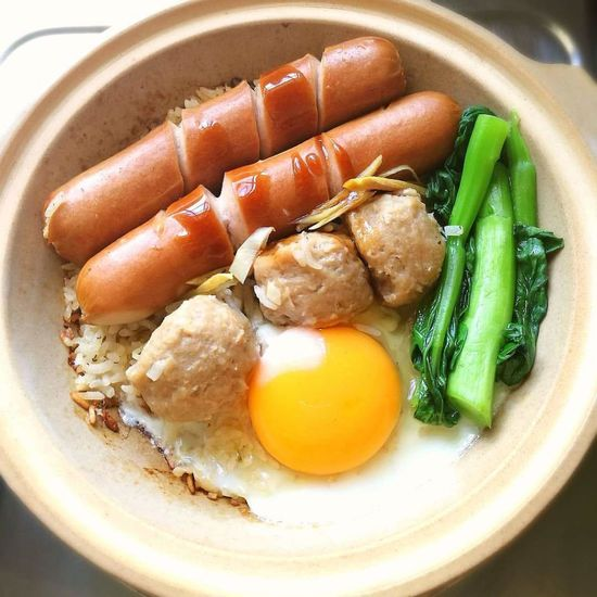 Food,hotdog,meatball,rice, Food Food And Drink Egg Yolk Healthy Eating Ready-to-eat Freshness No People Indoors  Sausage Fried Egg Close-up Meal Sunny Side Up Food State Indoors  Indoors  Indoors  Indoors  Indoors  Indoors  High Angle View Outdoors Thailand Illuminated Statue