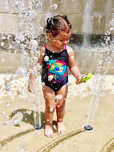 Summer fun. Waterparkfun Water Splashing Playing Childhood Fun Kids Action Shot  Phptography Photooftheday