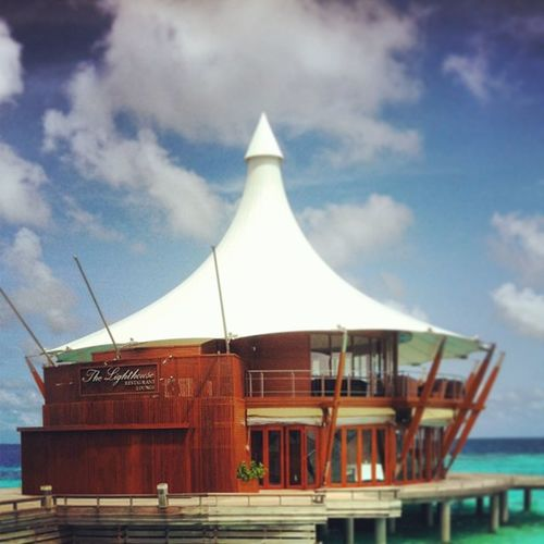 Asia's one of the BEST fine dinning Restaurent Universal Resorts Maldives Baros Maldives Resort Lighthouse