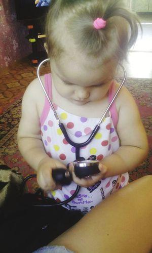 Врачом не становятся, им рождаются My Baby Niece ❤love 😊😍