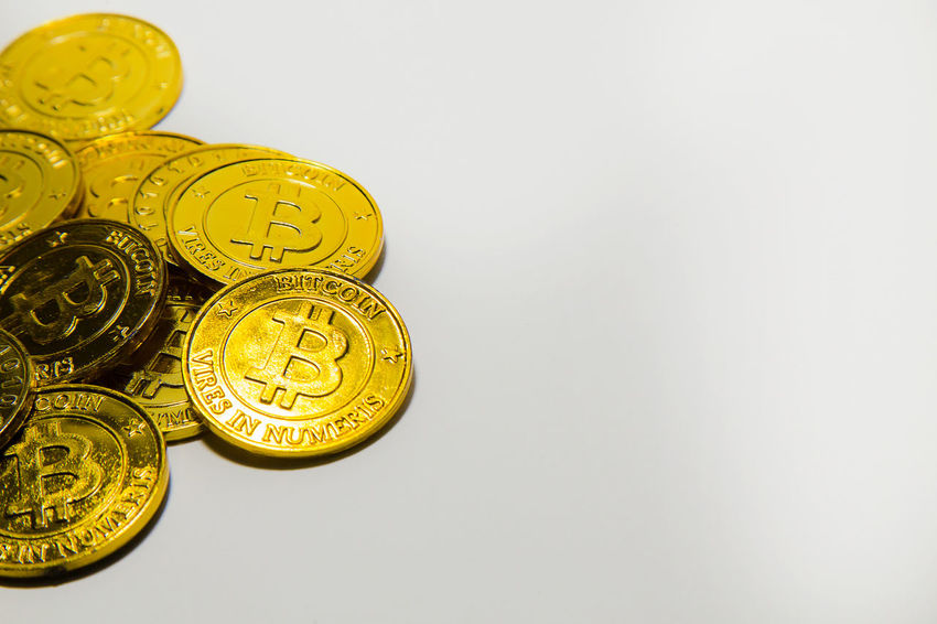 The Gold Bitcoinor BTC image Macro shots crypto currency Bitcoin coins electronic money. Antique Bitcoin Bitcoin Cash Bitcoin Coin Bitcoin Miner Bitcoin Mining Bitcoin Stock Bitcoin Symbol Bitcoin Wallet Bitcoin Wallet App Bitcoins Close-up Day Finance Gold Gold Colored Indoors  Metal No People Studio Shot White Background