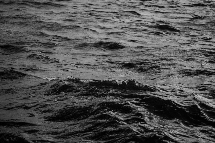 Black minimal sea texture Sea Full Frame Water No People Backgrounds Motion Waterfront Beauty In Nature Outdoors Nature Rippled Day Textured  Black Minimalism Minimal